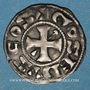 Coins Berry. Comté de Gien et Seigneurie de Donzy. Geoffroi III (1120-1160). Denier