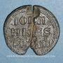 Coins Comtat Venaissin. Jean XXII (1316-1334). Bulle papale