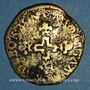 Coins Comtat Venaissin. Sixte V (1585-1590). Pinatelle 1587. Carpentras