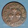 Coins Comtat Venaissin. Urbain VIII (1623-1644). Double tournois 1635