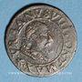 Coins Comtat Venaissin. Urbain VIII (1623-1644). Double tournois 1637