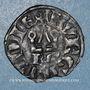 Coins Duché de Bourgogne. Eudes IV (1315-1349). Denier tournois, type avec BG sous le châtel