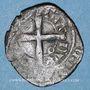 Coins Duché de Bourgogne. Eudes IV (1315-1349). Tiers de gros au petit écu de Bourgogne couronné