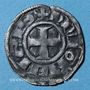 Coins Duché de Bourgogne. Hugues III (1162-1192). Denier. Dijon
