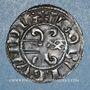 Coins Duché de Bourgogne. Hugues IV (1218-1272). Denier. Dijon