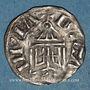 Coins Franche Comté. Archevêché de Besançon. Hugues III (1085-1100). Denier estevenant, 6e type
