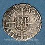 Coins Franche Comté. Cité de Besançon. Blanc (= 1/2 carolus) 1543