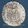Coins Franche Comté. Cité de Besançon. Carolus 1580. Avec BISVNTINE