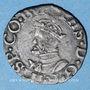 Coins Franche Comté. Comté de Bourgogne. Philippe II (1556-1598). Blanc (= 1/2 carolus) 1564. Dôle