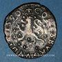 Coins Franche Comté. Comté de Bourgogne. Philippe II (1556-1598). Double denier, 1590. Dôle