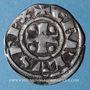 Coins Franche-Comté. Lons-le-Saulnier. Monnayage immobilisé (XIe - XIIe siècles). Denier inédit !