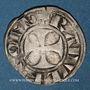Coins Picardie. Comté de Soissons. Raoul de Nesle (1180-1237). Denier