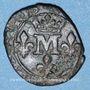 Coins Principauté de Dombes. Anne-Marie-Louise d'Orléans (1650-1693). Liard (167)7