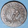 Coins Principauté de Dombes. Gaston d'Orléans (1627-50), denier tournois 1651