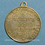 Coins Guerre de 1870-1871. Appel à la démocratie. Médaille laiton