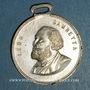 Coins Guerre de 1870-1871. Léon Gambetta. Médaille cuivre jaune argenté