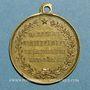 Coins Guerre de 1870-1871. Léon Gambetta. Médaille cuivre jaune