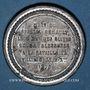 Coins Guerre de 1870-1871. Mort du général Renault. Médaille étain. 37,2 mm