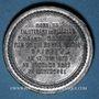Coins Guerre de 1870-1871. Mort du lieutenant de Vaisseau Edgard Saisset. Médaille étain. 37,2 mm