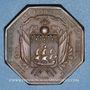 Coins La Fayette. Compagnie des Grenadiers Volontaires. Jeton bronze. 32,7 mm. Refrappe