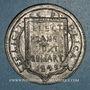 Coins Révolution allemande. 1849. Frédéric Guillaume, empereur. Médaille étain coulé
