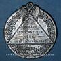 Coins Révolution de 1848. Adoption des formules de la constitution. Médaille étain. 46 mm