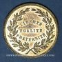 Coins Révolution de 1848. Commémoration des journées de février. Médaille laiton. 22,5 mm