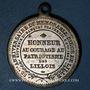 Coins Révolution de 1848. Fraternisation des gardes nationales. Médaille cuivre argenté. 33,3 mm