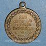 Coins Révolution de 1848. Le général Cavaignac. Médaille cuivre jaune. 23,12 mm