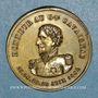 Coins Révolution de 1848. Le général Cavaignac. Médaille cuivre jaune. 24 mm