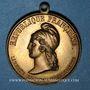 Coins Révolution de 1848. Lyon. Le Peuple rompt sur Paris. Médaille cuivre. 31 mm