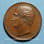 Coins Révolution de 1848. Médailles de personnages divers - Antoine Eugène de Genoude. Médaille cuivre