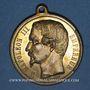 Coins Révolution de 1848. Plébiscite pour l'empire 1852. Médaille cuivre doré. 34 mm