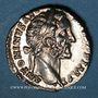 Coins Antonin le Pieux (138-161). Denier. Rome, 155-156. R/: l'Abondance assise à droite