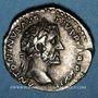 Coins Antonin le Pieux (138-161). Denier. Rome, 158-159. R/: Antonin voilé debout à g.