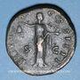 Coins Antonin le Pieux (138-161). Sesterce. Rome, 153-154. R/: la Liberté debout à droite