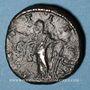 Coins Aquilia Sévéra, 2e épouse d'Elagabale. Dupondius. Rome. R/: la Joie