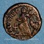 Coins Arcadius (383-408). 1/2 centénionalis. Constantinople, 3e officine. 383-384. R/: Victoire