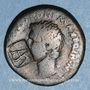 Coins Auguste (27 av. - 14 ap. J-C). As frappé au nom de P. Lurius Agrippa. Rome, 7 av. J-C. Contremarqué