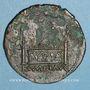 Coins Auguste (27 av. - 14 ap. J-C). As. Lyon, 8 av. J-C. Atelier auxiliaire. R/: autel