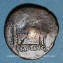 Coins Auguste (27 av. - 14 ap. J-C). As. Lyon, vers 10-7 av. J-C ; contremarqué du monogramme de Varus