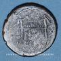 Coins Auguste (27 av. - 14 ap. J-C). As. Lyon vers 10-7 av. J-C, contremarqué RE sous Auguste