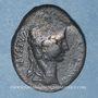Coins Auguste (27 av. - 14 ap. J-C). As. Lyon, vers 10-7 av. J-C ; contremarqué TIB.C.  sous  Auguste