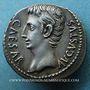 Coins Auguste (27 av. - 14 ap. J-C). Denier. Caesaraugusta, 19-18 av. J-C. R/: OB.CIVIS.SERVATOS