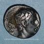 Coins Auguste (27 av. - 14 ap. J-C). Denier fourré imitation locale. Colonia Patricia, 19. R/: couronne