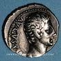 Coins Auguste (27 av. - 14 ap. J-C). Denier. Lyon, 12 av. J-C. R/: capricorne à droite