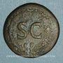 Coins Auguste (27 av. - 14 ap. J-C). Dupondius frappé sous Tibère. Rome, 22-26. R/: S-C