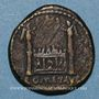Coins Auguste (27 av. - 14 ap. J-C). Semis. Lyon, vers 12/14 av. J-C. R/: autel