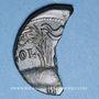 Coins Auguste et Agrippa. As (= dupondius coupé). Nîmes, 16 - 10 avant J-C.
