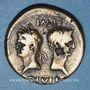 Coins Auguste et Agrippa. Dupondius contremarqué. Nîmes, 9/8 - 3 avant J-C.